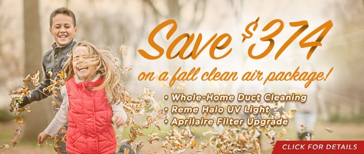 Fall Special - Save $374 on duct cleaning