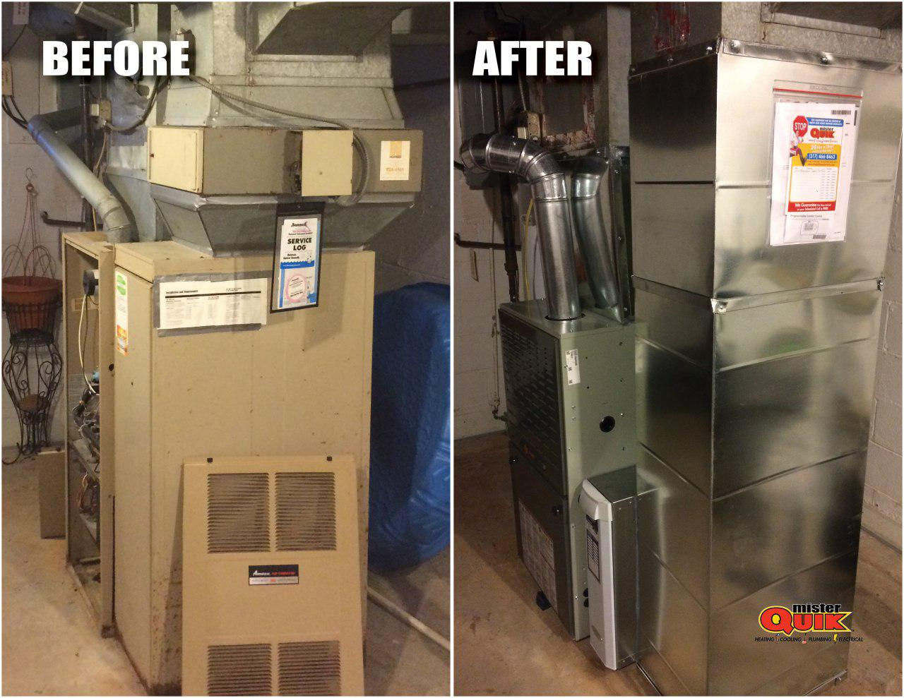 Before and After HVAC System